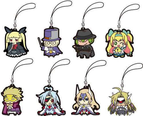 Blazblue- Character Trading Rubber Straps Part 2 Set of 8