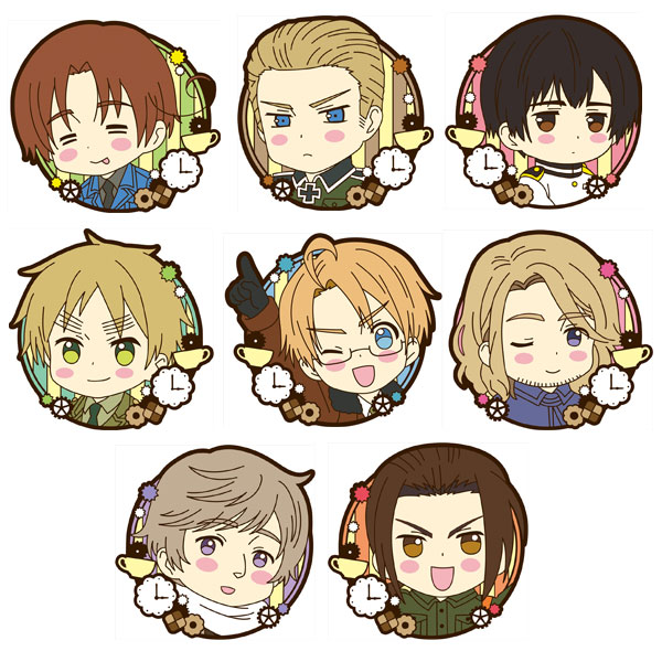 Hetalia The Beautiful World- Trading Rubber Magnet Set of 10