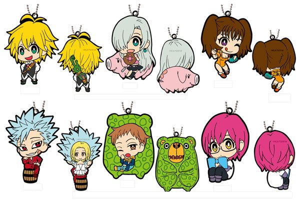 The Seven Deadly Sins- Double Sided Rubber Mascot- Single BLIND BOX