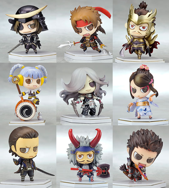 Sengoku Basara - One Coin Grande Collection First Color Costume Change Figures Set of 10
