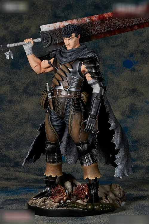 Berserk- 1/6 Guts Statue Lost Children no Shou Black Swordsman Version PVC Figure